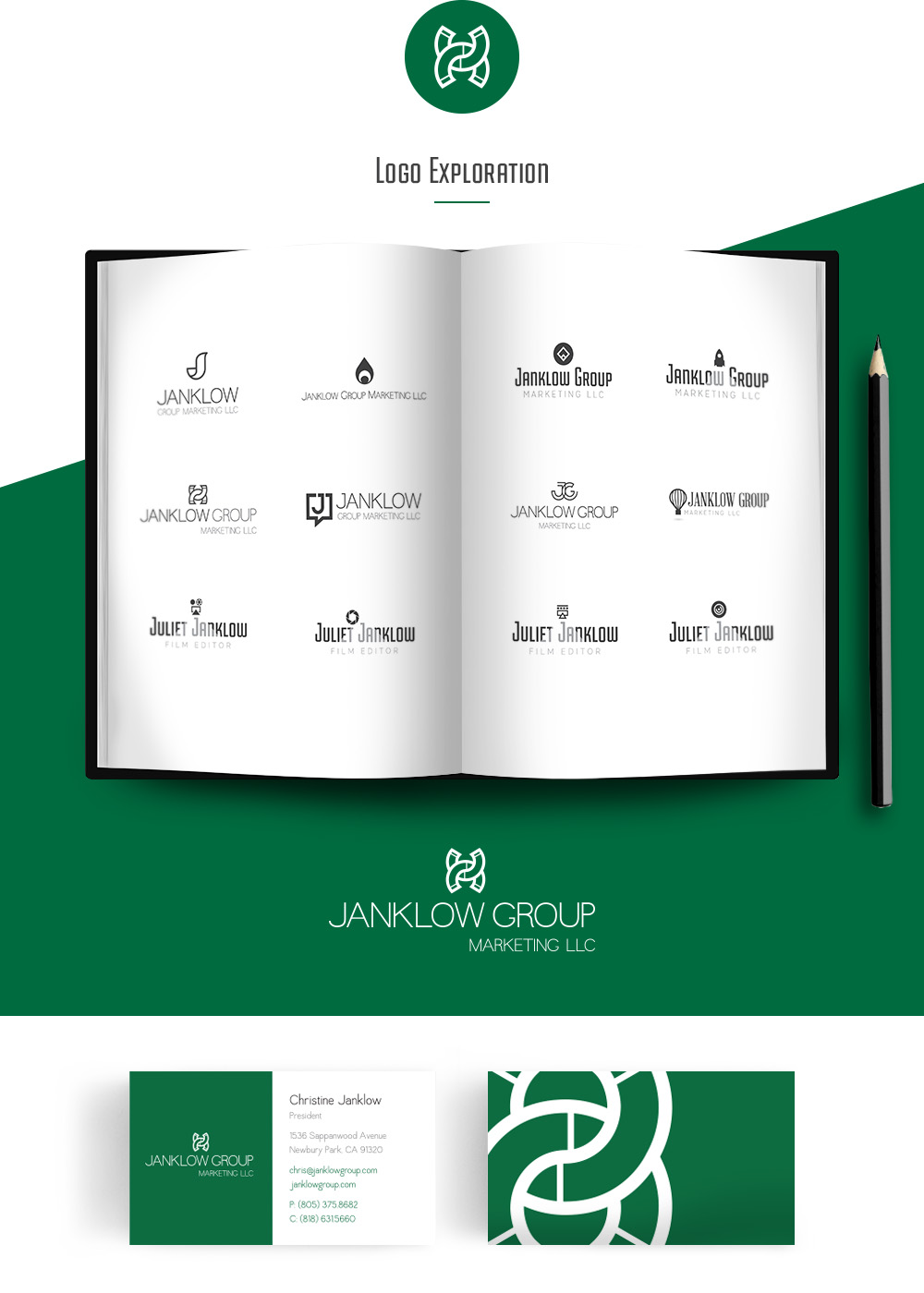 Logo and business card design for Janklow Group